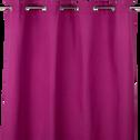 Rideau à œillets fuchsia 140x250cm-ALMERA