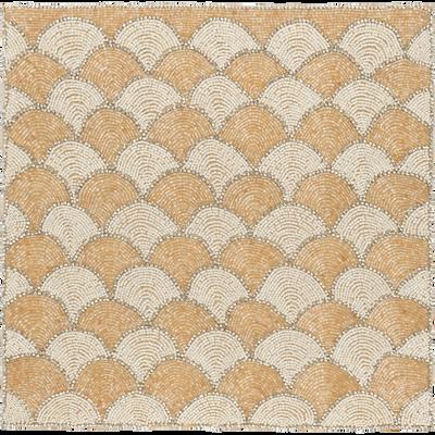 Set de table perlés jaune 36x36cm-SAVONE