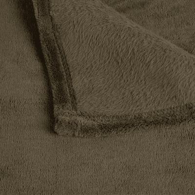 Plaid doux vert cèdre 230x250cm-ROBIN