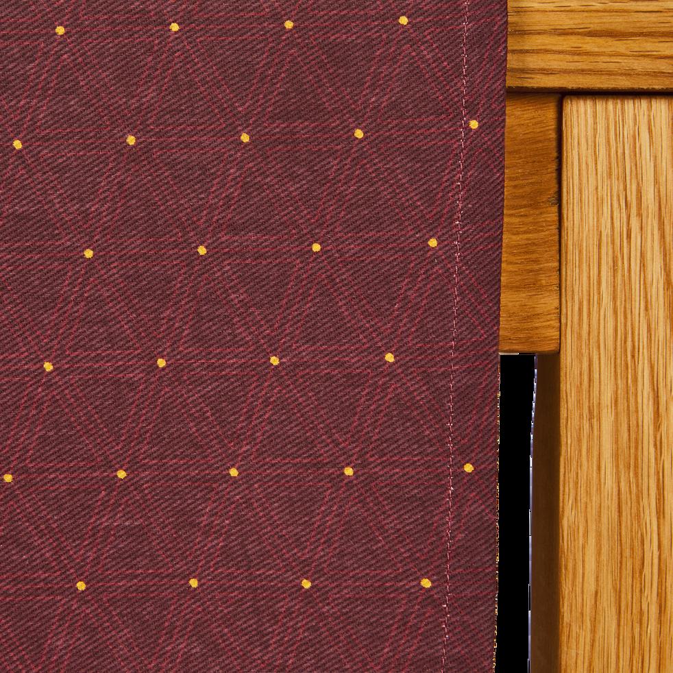Chemin de table en coton violet à motifs 45x145cm-LYRE