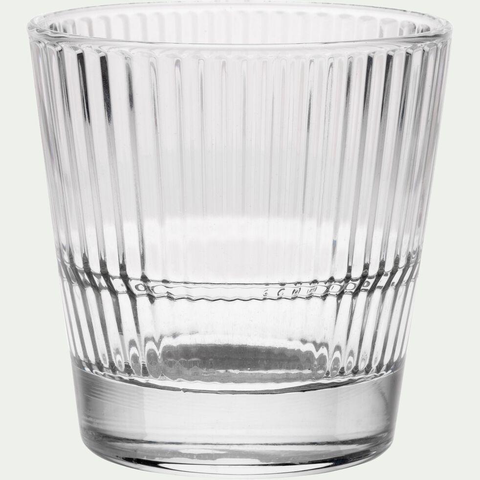Verre effet strié transparent 30cl-DIVA