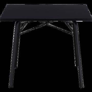 Table de repas carré noir - 2 à 4 places-DENYS