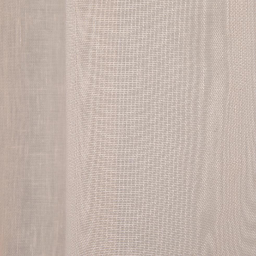 Voilage à oeillets rose grège 135x250cm-DUNE
