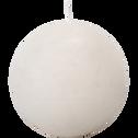 Bougie ronde blanc nougat D10cm-BEJAIA