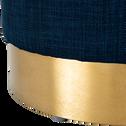 Pouf forme goutte en tissu bleu myrte-GRIMAUD