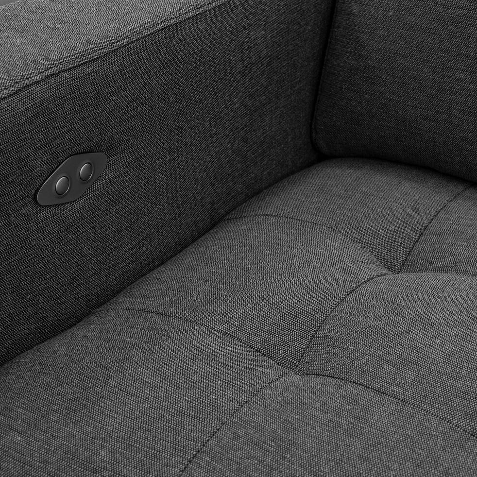 Fauteuil de relaxation en tissu - gris souris-MAURO