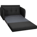 Canapé 2 places convertible déplimousse en tissu gris restanque-VINYL