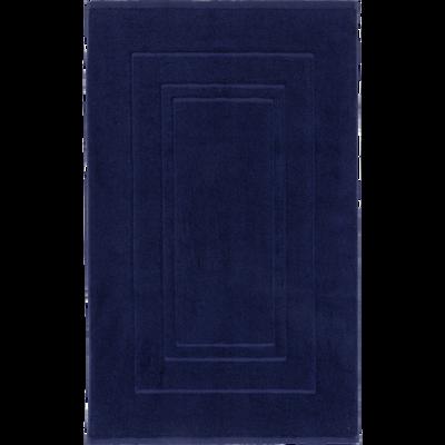 Tapis de bain en coton 50x80cm bleu myrte-AZUR