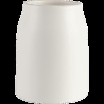 Vase en céramique blanc ventoux D12xH16cm-LOZA