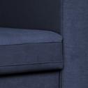 canapé 3 places fixe en tissu bleu myrte-MORGIOU