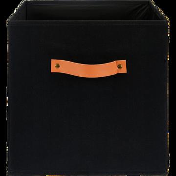 Panier de rangement 31x31 cm en lin Gris calabrun-ERRO