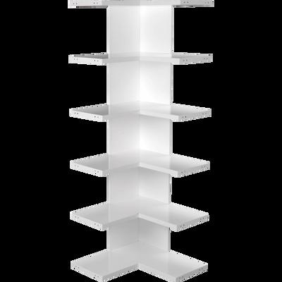Étagère d'angle blanche-LORENA