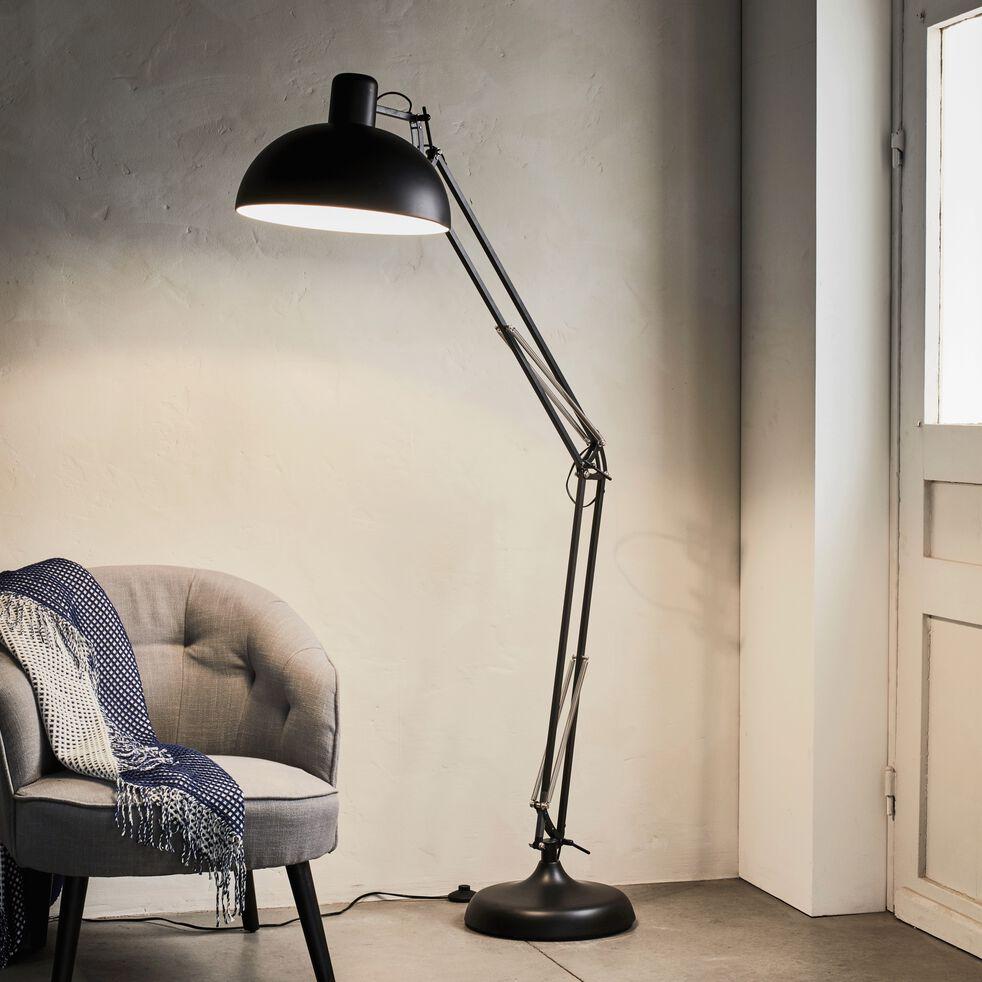 Lampadaire articulé en métal coloris - H178cm noir-XXL