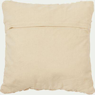 Housse de coussin macramé en coton - écru 45x45cm-MOUNIA