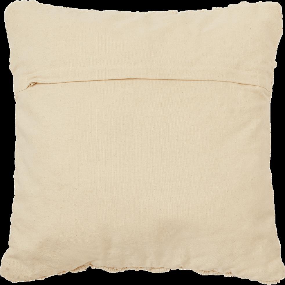 Housse de coussin en coton - écru 45x45 cm-MOUNIA