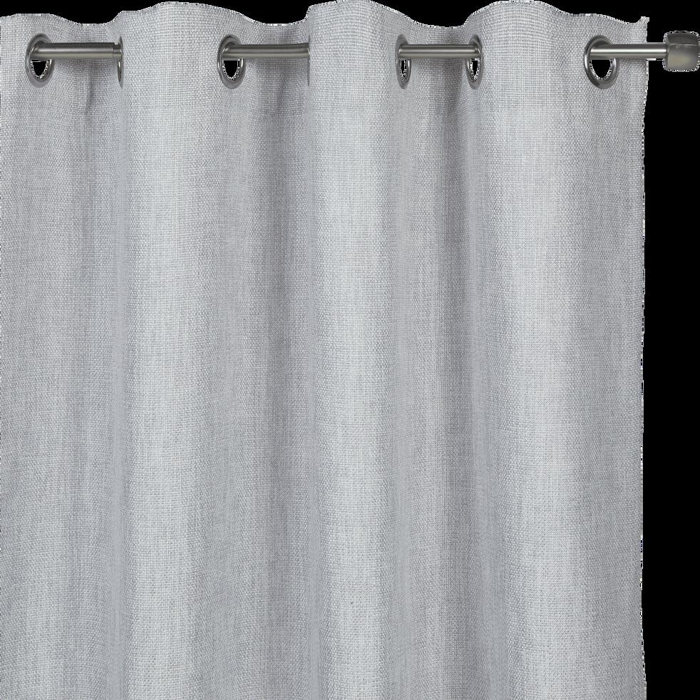 rideau oeillets gris clair 140x250cm cadolive catalogue storefront alin a alinea. Black Bedroom Furniture Sets. Home Design Ideas