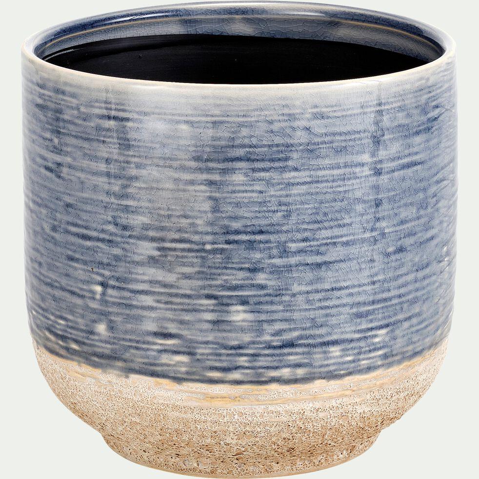 Cache-pot en céramique - bleu H17xD18 cm-ISSA