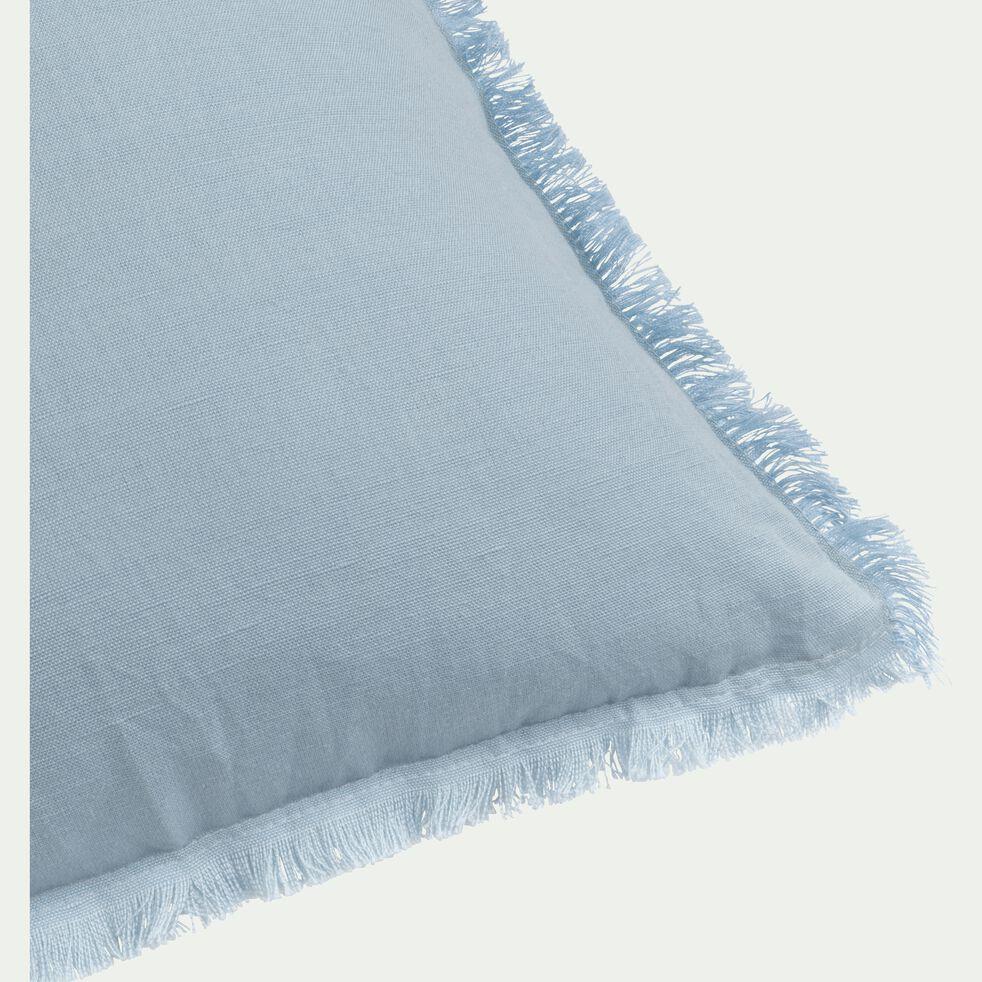 Coussin en lin bleu 40x40cm-VENICE