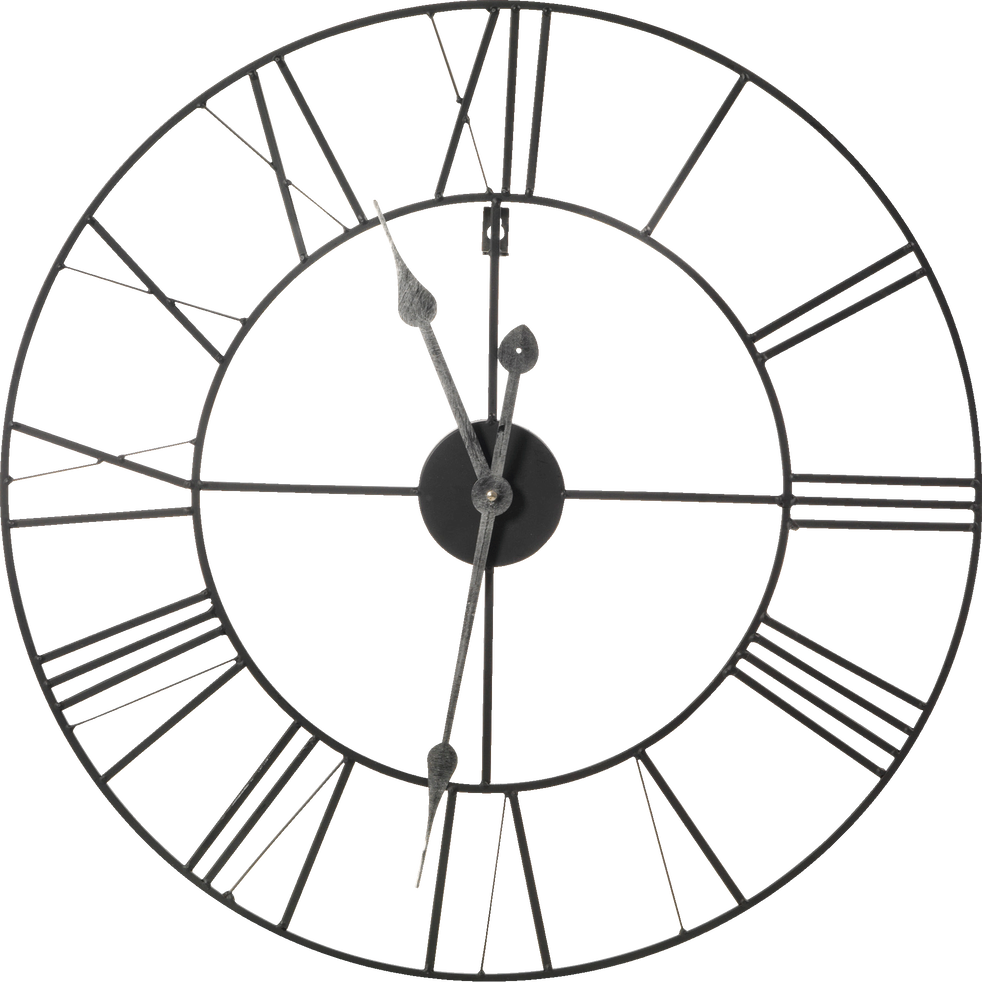 horloge murale en m tal d60cm myron d co alinea. Black Bedroom Furniture Sets. Home Design Ideas