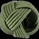 Lot de 4 ronds de serviette en coton vert D5cm-QUARI