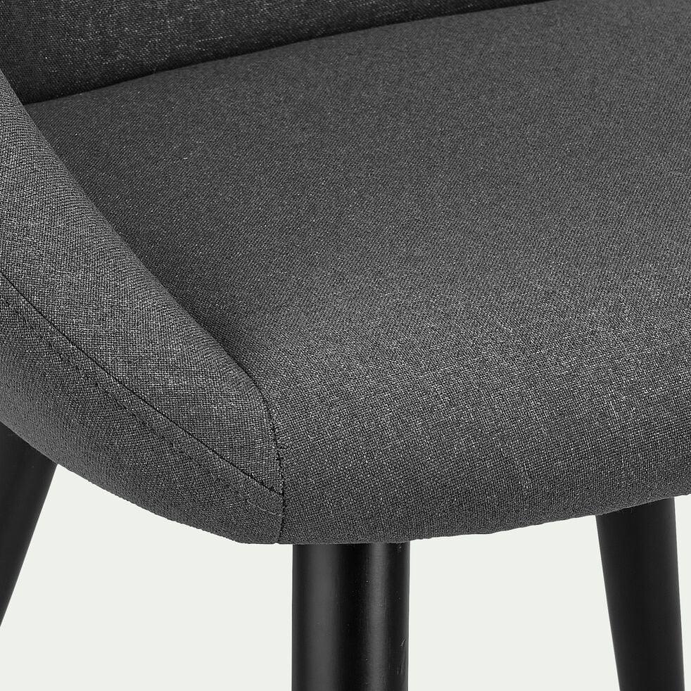 Chaise en tissu avec accoudoirs - gris ardoise-ELIA