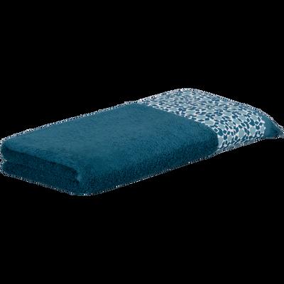 Serviette de toilette 50x100 cm bleu figuerolles-ZELLIA