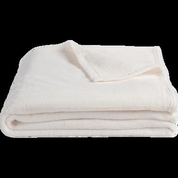 Plaid doux blanc ventoux (plusieurs tailles)-ROBIN