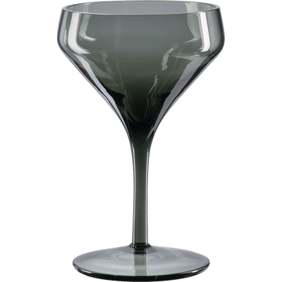 Coupe à champagne en verre gris 25cl-CLAUDIA