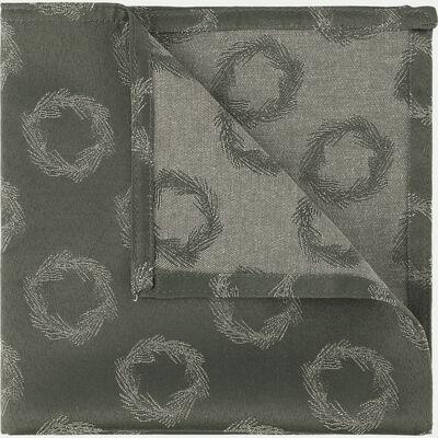 Serviette de table en coton et polyester vert 41x41cm-COURONNE