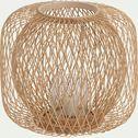 Photophore rond ajouré en bambou - naturel D35cm-ADO