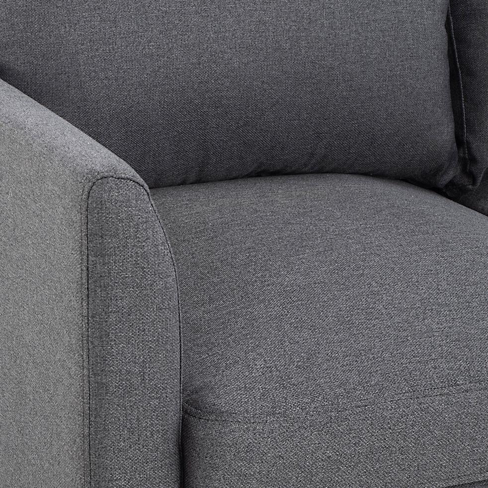 Canapé fixe 3 places en tissu - gris restanque-CARLES