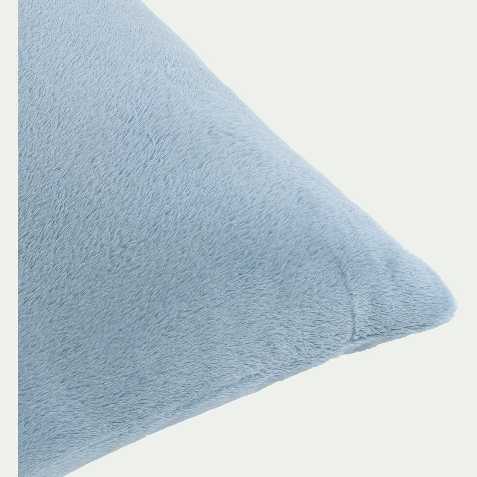Housse de coussin effet polaire en polyester - bleu calaluna 65x65cm-ROBIN