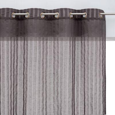 Voile en coton - gris 140x250cm-MIMET