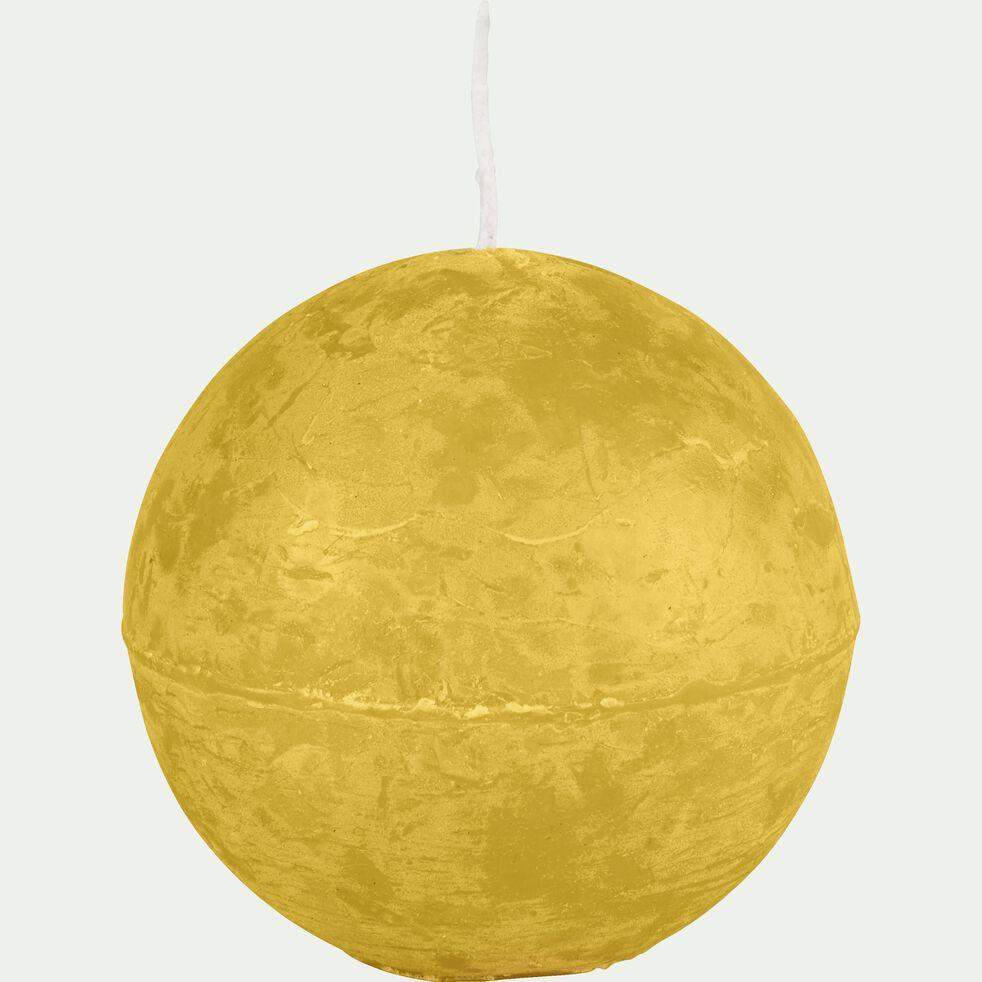 Bougie ronde - beige nèfle D8cm-BEJAIA