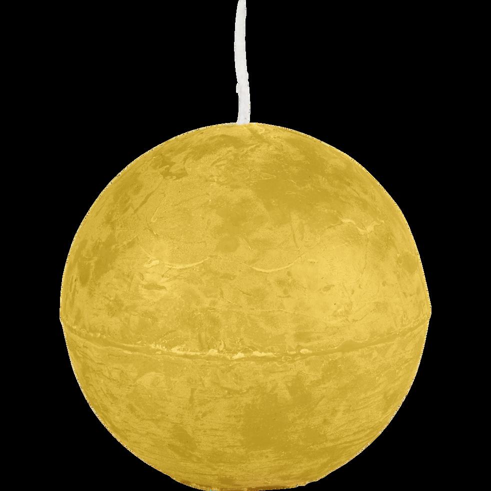 Bougie ronde beige nèfle D8cm-BEJAIA