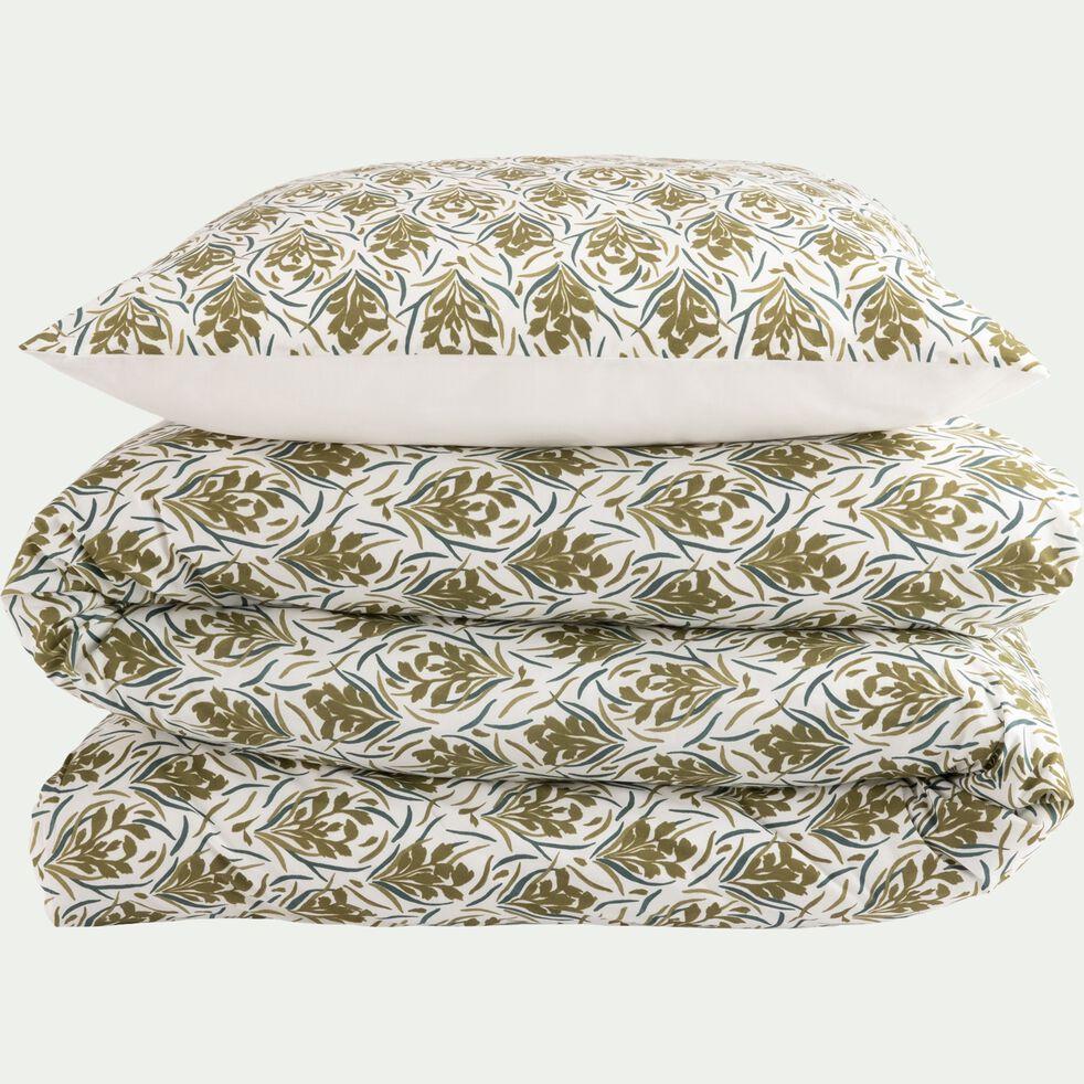 Housse de couette en coton avec 2 taies d'oreiller 63x63 - 240x220 + 2TO 63X63 motif doré-AMPHORES