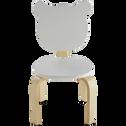 Chaise forme ours couleur blanche pour enfant-LOU