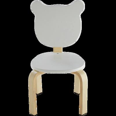 Chaise Forme Ours Couleur Blanche Pour Enfant LOU