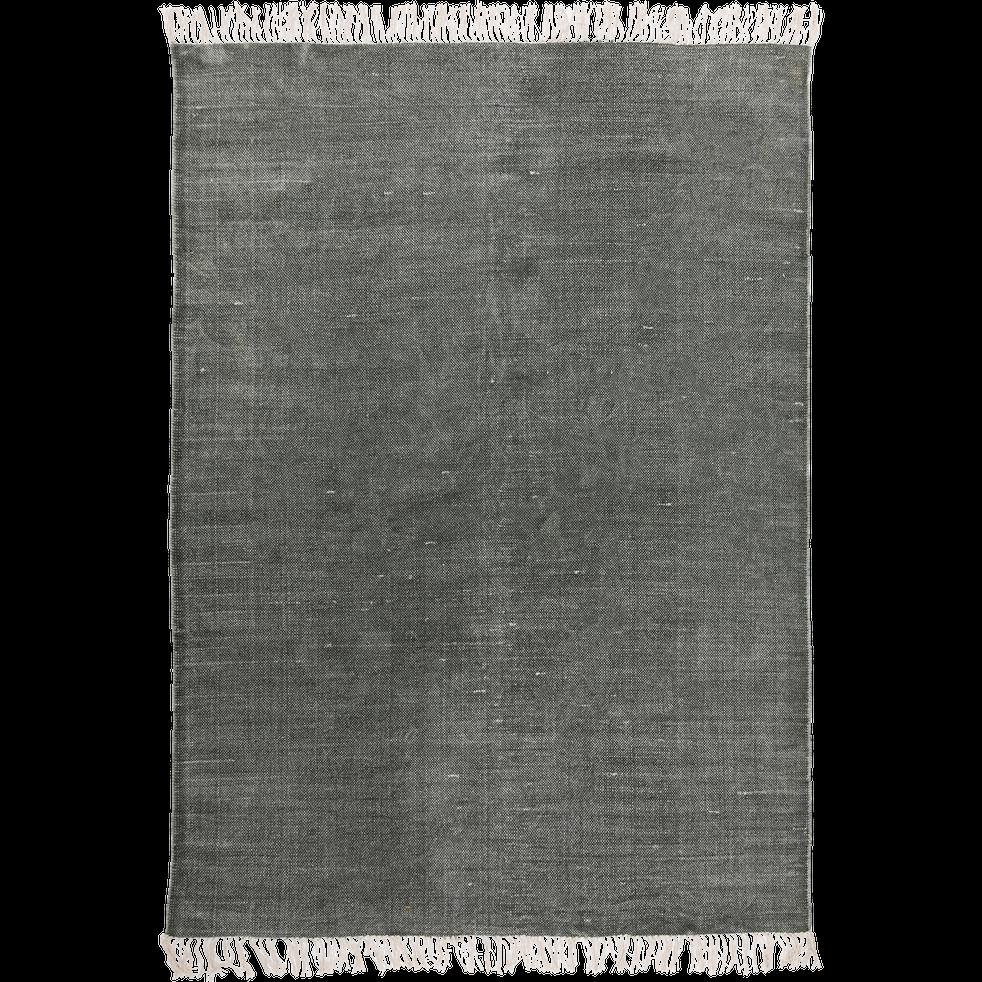 Tapis tissé plat vert cèdre 150x200cm-PALMA