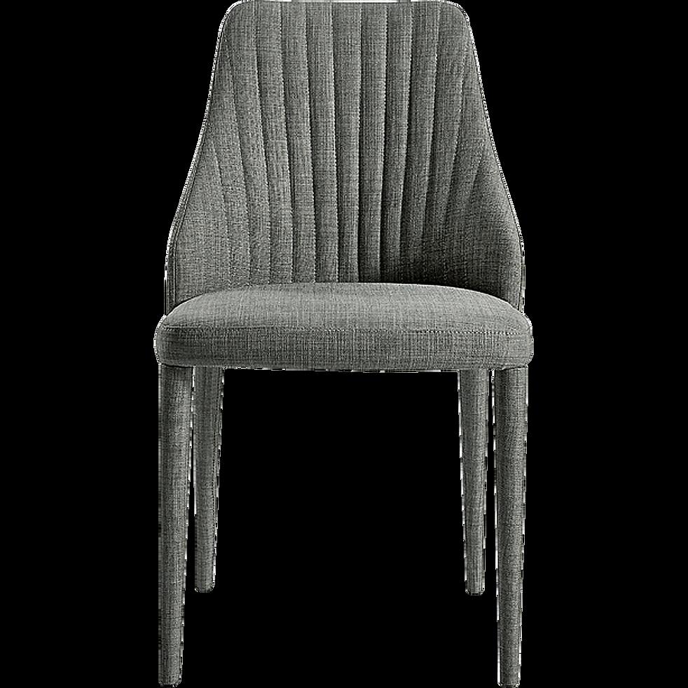 Chaise matelass e en tissu gris fonc anemone chaises Chaise en tissu gris