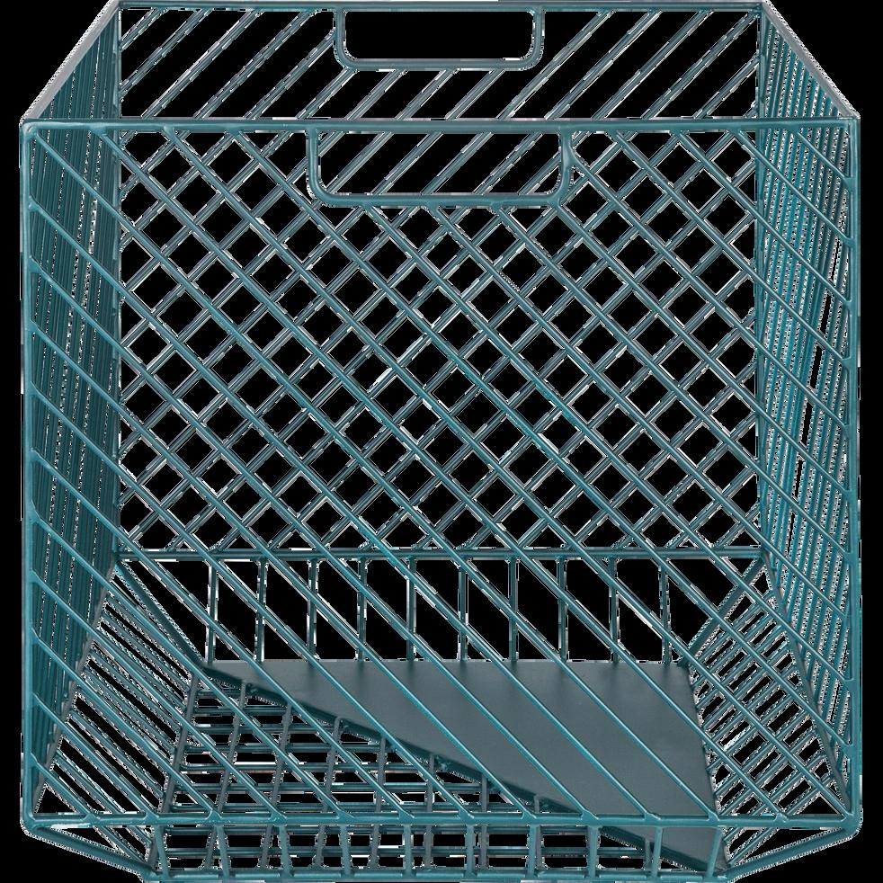 Caisse de rangement en acier bleue L41xl41xH40cm-TANIS