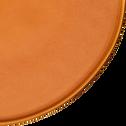 Assiette plate en grès orange D27,5cm-COPA