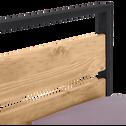 Lit 2 places bois et métal avec tête et pieds de lit - 180x200 cm-ENDOUME