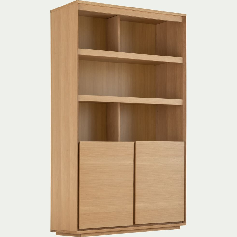 Vaisselier 2 portes en bois - naturel-AGOSTA