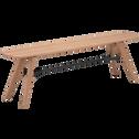 Banc plaqué chêne et métal - L160cm-FANETTE