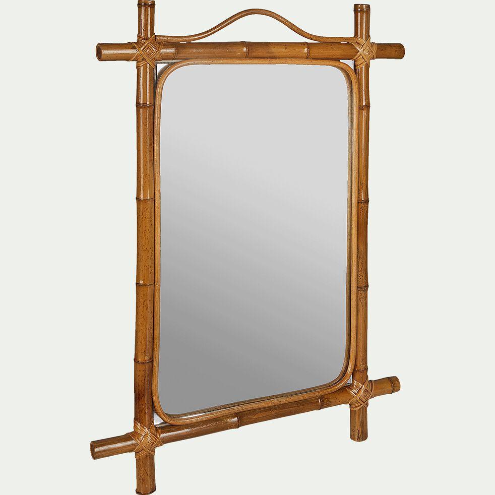 Miroir mural en bambou H66xl50cm-ANITA