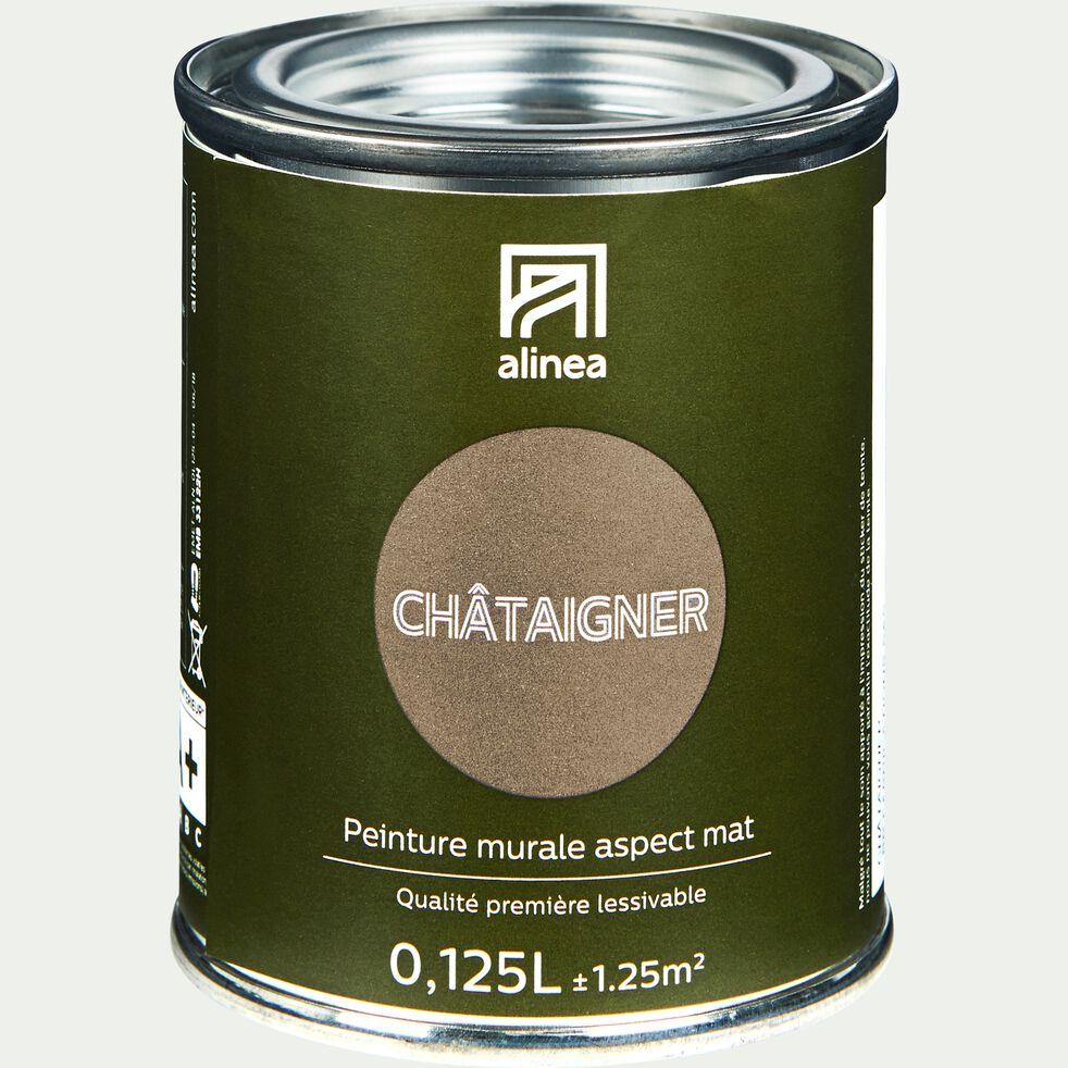 Peinture acrylique mate multi-supports - brun châtaignier 0,125L-PEINTURE
