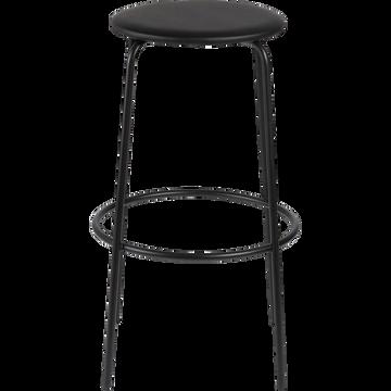 Chaise de bar en métal - noir - H66cm-GREASQUE