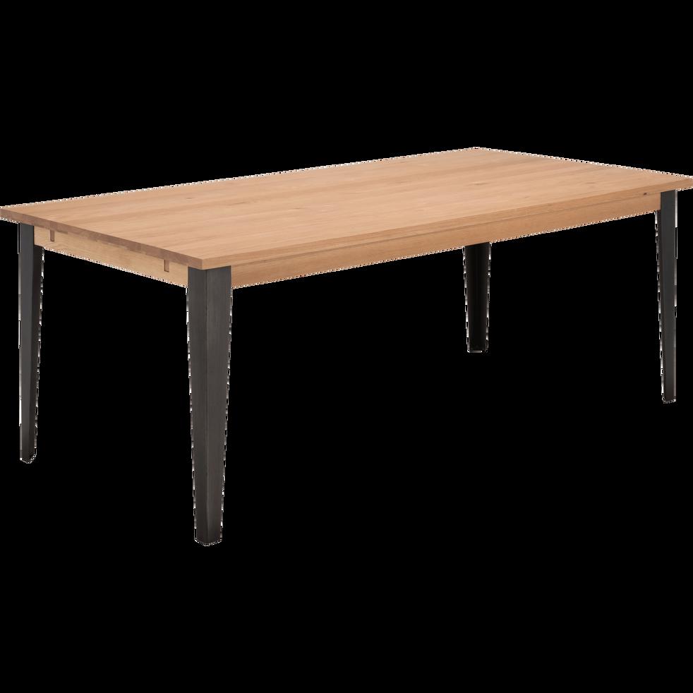 Table de repas extensible en chêne - 6 à 10 personnes sans allonge-MAUGUIO