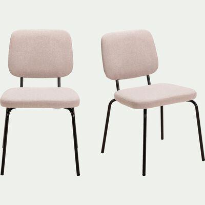Chaise en velours gris borie-LUCY